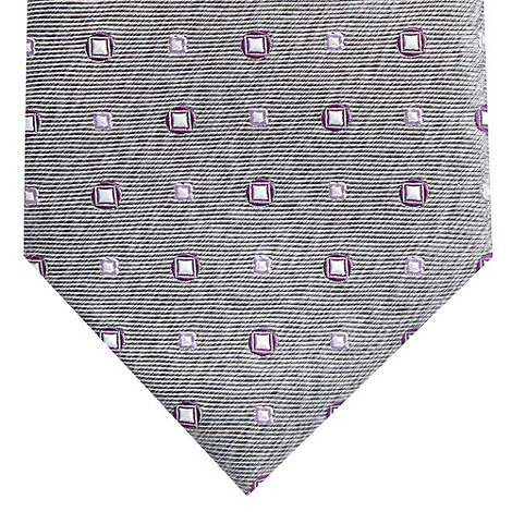 Jeff Banks - Designer grey square jacquard silk tie