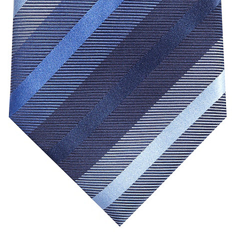 Jeff Banks - Designer navy multi striped silk tie