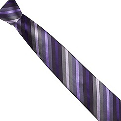 Jeff Banks - Designer dark purple multi striped silk tie