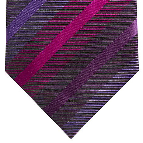 Jeff Banks - Designer purple multi striped silk tie