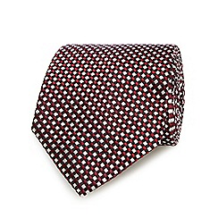 J by Jasper Conran - Red checked tie