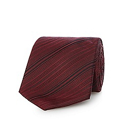 J by Jasper Conran - Wine red silk stripe tie