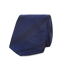 J by Jasper Conran - Navy pure silk variegated tie