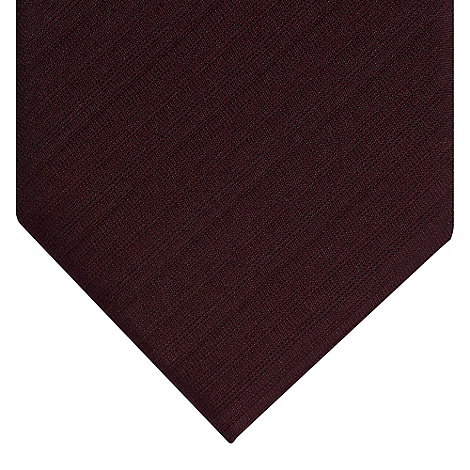 J by Jasper Conran - Designer wine semi plain textured silk tie