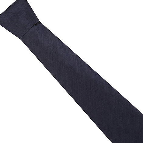 J by Jasper Conran - Designer navy semi plain textured silk tie