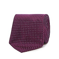 J by Jasper Conran - Purple jacquard pattern pure silk tie