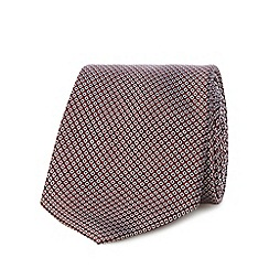 J by Jasper Conran - Dark red geometric patterned tie