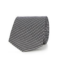 J by Jasper Conran - Grey patterned silk tie