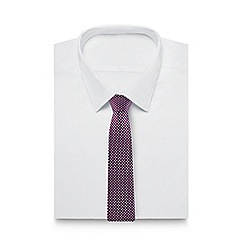 J by Jasper Conran - Purple jacquard patterned pure silk tie