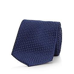 J by Jasper Conran - Navy jacquard pattern pure silk tie
