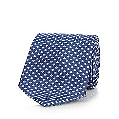 J by Jasper Conran - Blue patterned pure silk tie