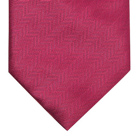 St George by Duffer - Dark pink textured striped tie