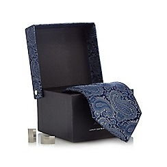 Jeff Banks - Blue paisley print tie gift set