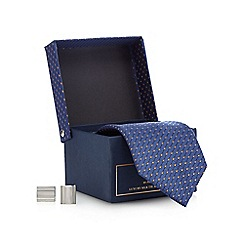 Hammond & Co. by Patrick Grant - Navy diamond embroidered tie gift set