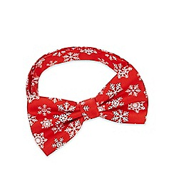 The Collection - Red snowflake print bow tie