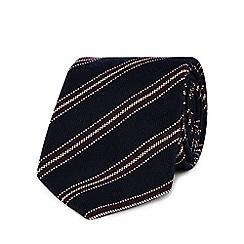 Hammond & Co. by Patrick Grant - Navy striped print tie