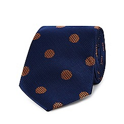 Hammond & Co. by Patrick Grant - Navy spot print tie