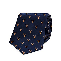 Hammond & Co. by Patrick Grant - Navy stag print tie