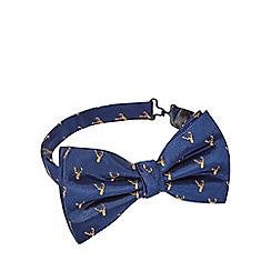 Hammond & Co. by Patrick Grant - Navy deer bow tie