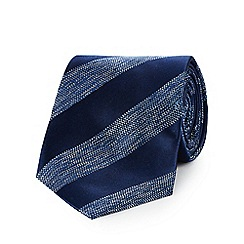 Hammond & Co. by Patrick Grant - Navy striped space die tie