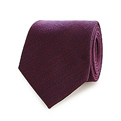Hammond & Co. by Patrick Grant - Purple herringbone tie