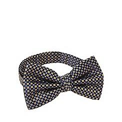 Hammond & Co. by Patrick Grant - Navy silk daisy ready tied bow tie