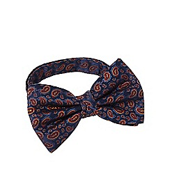 Hammond & Co. by Patrick Grant - Navy silk paisley ready tied bow tie