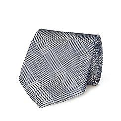 Hammond & Co. by Patrick Grant - Grey silk Prince of Wales checked tie