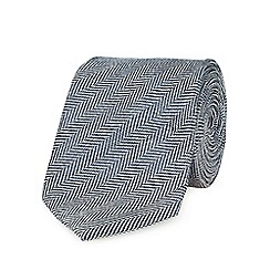 Hammond & Co. by Patrick Grant - Grey herringbone tie with wool