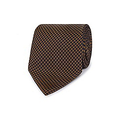 Hammond & Co. by Patrick Grant - Navy dogtooth patterned pure silk tie