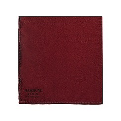 Hammond & Co. by Patrick Grant - Navy and dark red patterned pure silk pocket square