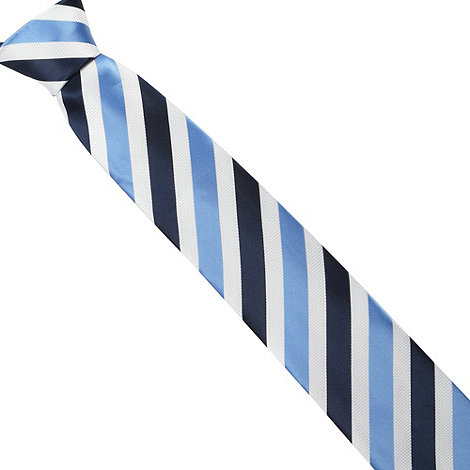 Thomas Nash - Blue multi tonal striped tie