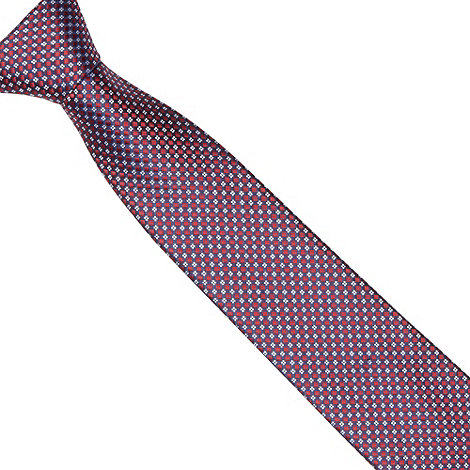 Thomas Nash - Navy geometric diamond tie