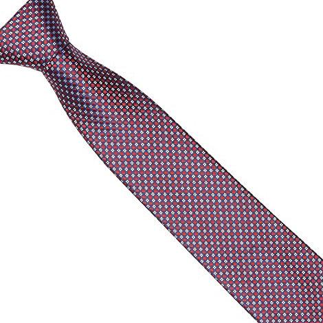 Thomas Nash - Navy geometric diamond tie