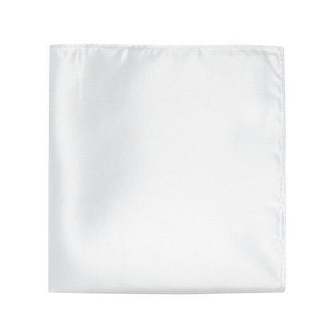 Black Tie - White satin pocket square
