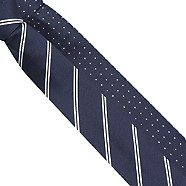 Thomas Nash - Pack of two navy patterned ties