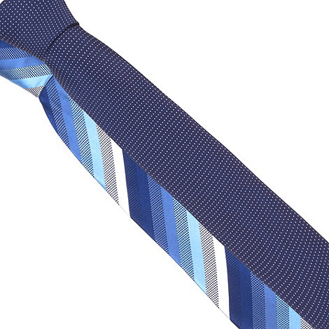 Thomas Nash - Pack of two blue jacquard patterned ties