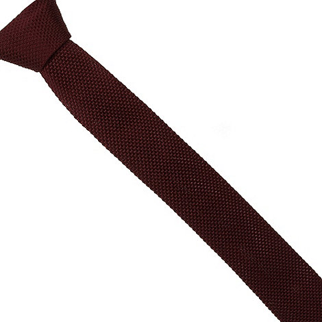 Red Herring - Wine knitted skinny tie
