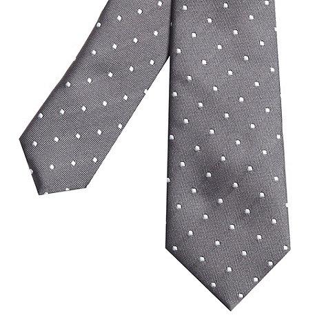 Red Herring - Grey polka dotted skinny tie