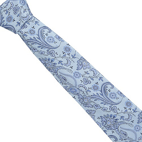 Thomas Nash - Light blue paisley jacquard tie