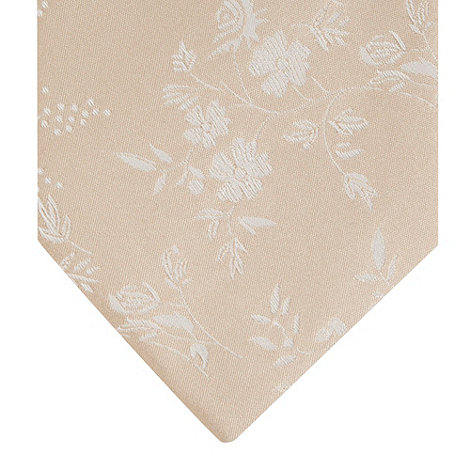 Thomas Nash - Light gold floral embroidered silk tie
