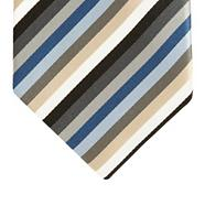 Gold multi striped silk tie