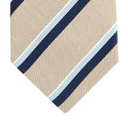 Silver textured striped silk tie