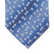 Blue mini floral silk tie