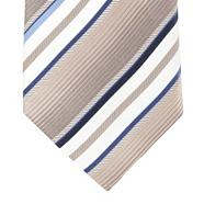 Gold bold striped silk tie