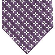 Plum textured floral silk tie