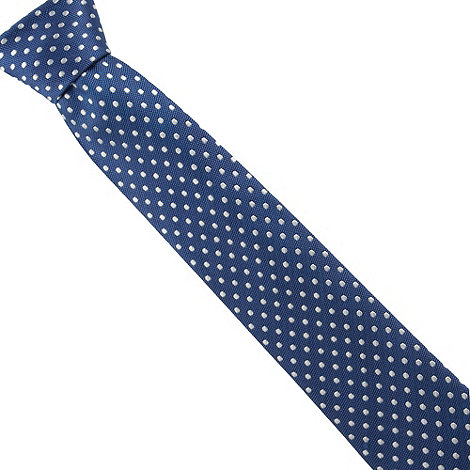 Osborne - Blue polka dotted silk tie