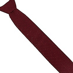 Jeff Banks - Wine knitted slim tie