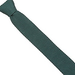 Jeff Banks - Designer green knitted skinny tie
