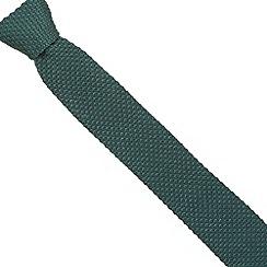 Jeff Banks - Designer green knitted skinny tie